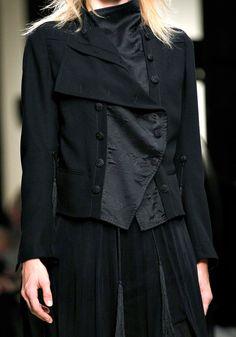 Ann Demeulemeester Spring 2012 – Vogue Emily Senko (ELITE)