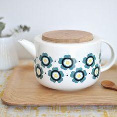 Théière Fleurs - retro style tea pot