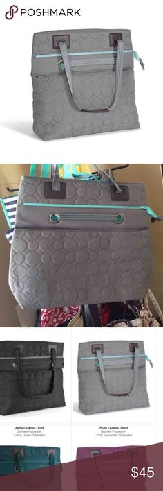 Thirty one versatile tote New ! Pretty grey quilted bag. Bags Totes