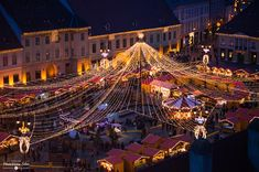 Christmas Market in Sibiu, Transylvania, Romania. Sibiu Romania, Bucharest Romania, Christmas Photography, Gabel, Backpacking Europe, Top Destinations, Croatia, Places To Visit, Around The Worlds
