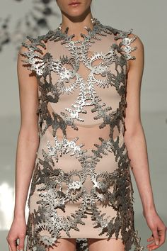 manisima runway.  laser cut fashions.  women's fashion and style.  modern.