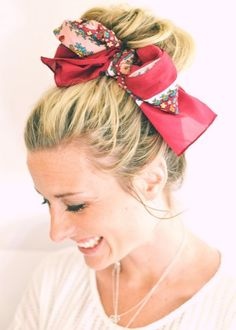 Easy, cute and fresh scarf ideas for summer!