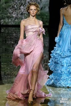 Elie Saab - love the way the fabric is moving in this pic.   NOTE to SELF, follow this link to the collections
