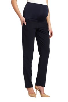 a9c1284c976d4 Maternal America Women's Maternity Belly Support Skinny Trouser Pants  Pants: A classic soft and stretchy over the belly trouser.