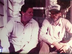 Willie Morris (left) and Jim PathFinder Ewing - My blog: 'It's Important To Honor The Writing' – Willie Morris http://jimpathfinder.tumblr.com/ #books #authors #writing