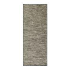 HODDE Rug, flatwoven, in/outdoor grey, black - in/outdoor grey/black - 80x200 cm - IKEA