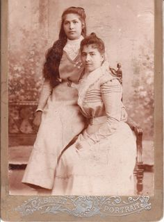 This Cabinet Portrait is an image of two Armenian women photographed in Georgia in 1910. Writing on the reverse of the card indicates that the women are named Mara and Jenia.