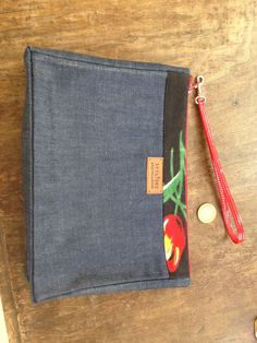 scrap denim, fresh from the factory, with scrap fabric belt, turned into a lined clutch that holds more than your lipstick and mobile phone! Scrap Fabric, Fabric Scraps, Your Boyfriend, Boyfriend Jeans, Euro, Lipstick, Belt, Fresh, Denim
