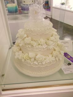 Gorgeous white wedding cake