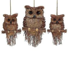 Handcrafted Pine Cone Owls
