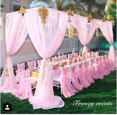 This is great for a baby shower or a little girl's princess party Spa Party, Baby Party, Shower Party, Baby Shower Parties, Baby Shower Themes, Baby Shower Decorations, Shower Ideas, Outdoor Decorations, Pink Decorations