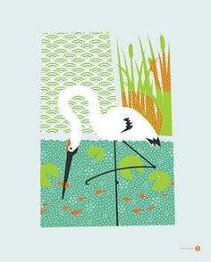 Whooping Crane - removable wall decal by Bee Things. 18x24, $20