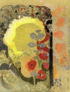 Redon, Odilon - Visionary Head (Sotheby's New York, Henri Fantin Latour, Georges Braque, Gustav Klimt, Odilon Redon, Art Impressions, Post Impressionism, Henri Matisse, Oeuvre D'art, Painting & Drawing