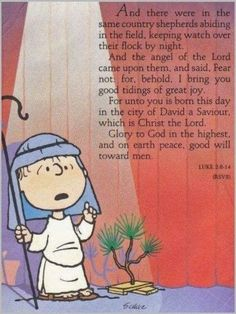 Laus Deo: Linus Van Pelt on the Meaning of Christmas