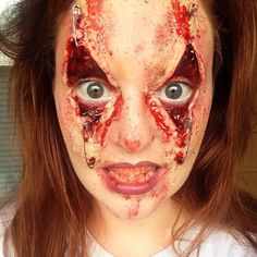 Halloween Makeup Illusions that will scare your pants off. Browse this selection of horrifying makeup and special effects. Halloween Scarecrow, Halloween Inspo, Halloween Kostüm, Halloween Cosplay, Halloween Face Makeup, Creepy Makeup, Horror Makeup, Sfx Makeup, Costume Makeup