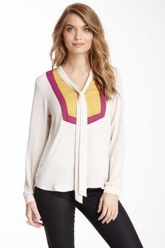 Romeo & Juliet blouse - love the colour blocking