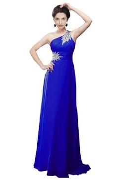 Moonar Embelishment One-shoulder Chiffon Prom Gowns Long Evening Dress --- http://www.amazon.com/Moonar-Chiffon-Shoulder-Bridemaid-DarkBlue/dp/B008YQYOEK/ref=sr_1_20/?tag=http://amzn.to/17PhQw1