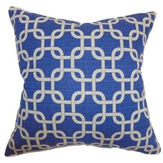 "Make your home a haven for relaxation by styling it with this refreshing throw pillow. This chic accent pillow comes with a peacock blue colored background with Denton prints. This striking square pillow is a great statement piece for your sofa, bed or sectionals. The materials used in crafting this 18"" pillow is made from 100% soft cotton fabric. Infuse this contemporary pillow with other patterns like ikats, toiles and more. $55.00 #bluepillow #tosspillow #pillows #homedecor"