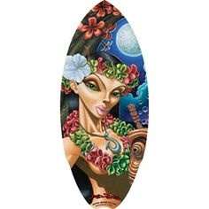 Hawaiian Wood Mini Surfboard Moon of Manakoora 20 inch by 85 inch -- This is an Amazon Affiliate link. For more information, visit image link.