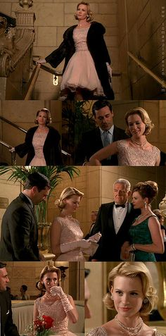 Mike and I watched this episode tonight, and I decided that this is the dress I want to get married in.  Including what Betty's wearing underneath.  SO HOT.