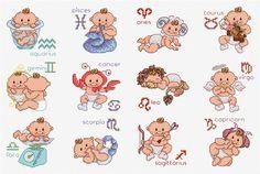 Maria Diaz Designs: Baby Birth Signs (Cross-stitch chart)