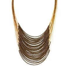 seeded bib necklace, terrain