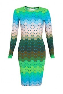 Jonathan Saunders jersey long sleeve ombre printed dress