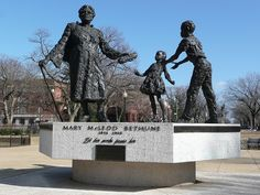 The Mary McLeod Bethune Emancipation Memorial in Washington, D.C.! A beautiful statue designed by Robert Berks and funded by the National Council of Negro Women, Inc.