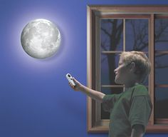"""""""Moon in My Room"""" actually shows the phases of the moon.   41 Coolest Night Lights To Buy Or DIY"""
