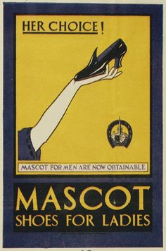 Mascot shoes vintage advertising poster