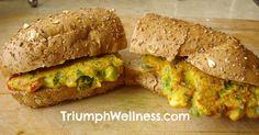 Chickpea Flour Omelette Sandwich #vegan