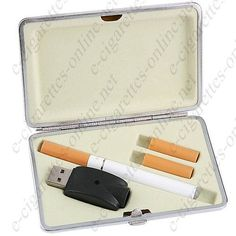 Type (S3) Electronic Cigarette kit with 2 refills and stylish travel case, $12.72