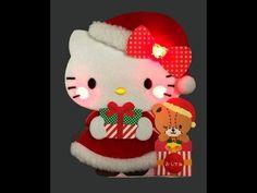 Hello Kitty Santa Claus Soft and Fluffy Illuminated Lights and 16 Melodi...