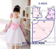 70 Ideas baby dress sewing tuto robe for 2019 Baby Girl Dress Patterns, Dress Sewing Patterns, Little Girl Dresses, Girls Dresses, Flower Girl Dresses, Fashion Kids, Costura Fashion, Dress Anak, Toddler Dress