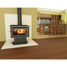 Vogelzang Mountaineer 2000 sq. ft. Wood-Burning Stove with Blower-VG650ELG - The Home Depot