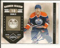 2011-12 Panini Limited Jordan Eberle Edmonton Oilers auto banner season 24/25 #EdmontonOilers