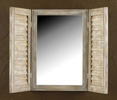 Deal Of The Day - Driftwood Shutter Mirror