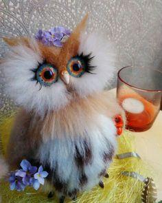 24 отметок «Нравится», 1 комментариев — Anna Magic Owl Flower (@magic.owl) в Instagram: «Обрученная влюбленная пара сычей в ожидании чуда  Из прошлых работ 2017 выполнено под заказ для…»