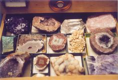 Crystals- Maybe have the specimen pieces in boxes? Minerals And Gemstones, Crystals Minerals, Rocks And Minerals, Stones And Crystals, Rock Collection, Crystal Collection, Little Presents, Rocks And Gems, Gemstone Colors