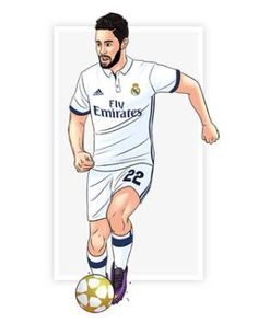 Isco Fotos Real Madrid, Isco Real Madrid, Real Madrid Team, Real Madrid Football Club, Football Art, Cristiano Ronaldo, Football Players, Adidas, Drawings