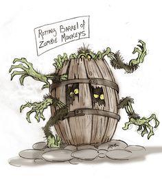Rotting Barrel Of Zombie Monkeys