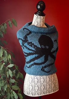 """Kraken cowl"" - well, it calls itself a Kraken but it's more of an octopus really. And very large for a cowl. Wrap? Tube top?"