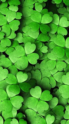 Four leaf green clover Green Wallpaper, Wallpaper Backgrounds, Iphone Wallpaper, Lucky Wallpaper, Dark Green Aesthetic, Aesthetic Colors, Green Theme, Green Colors, Fete Saint Patrick
