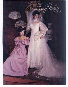 Eve Of Milady 1983 Vintage Bridesmaid Dresses, Bridal Dresses, Vintage Dresses, Vintage Wedding Photos, Vintage Bridal, Eve Of Milady Wedding Dresses, Wedding Gowns, Gorgeous Wedding Dress, Beautiful Dresses