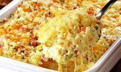 Запеканка из риса, ветчины и сыра   Школа вкуса - вкусные кулинарные рецепты