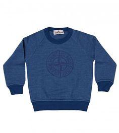 Stone Island Bright Blue Long Sleeved Marl Sweatshirt from www.profilefashion.com