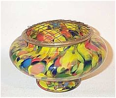 Czech Deco 6 inch flower arranger w/ collar. Click on the image for more information.