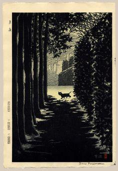 """Moonlight Night (Black Cat)"" by Kasamatsu, Shiro"
