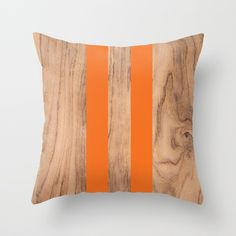 Wood Grain Stripes - Orange Throw Pillow by Natural Collective Co. Geometric Decor, Wood Texture, Wood Grain, Plank, Hardwood, Grains, Triangle, Stripes, Throw Pillows