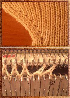Прибавление двух петель » Школа машинного вязания   Вязание - приемы
